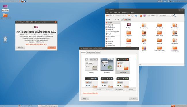 mate linux desktop environment