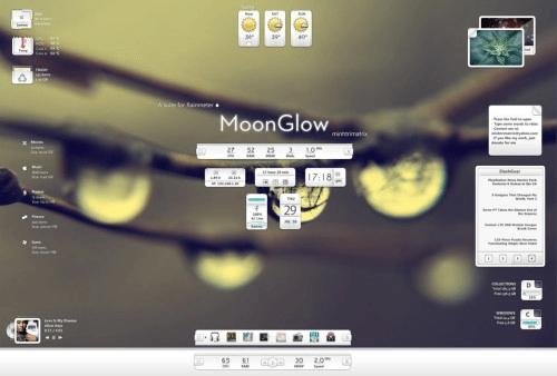moon glow for rain meter