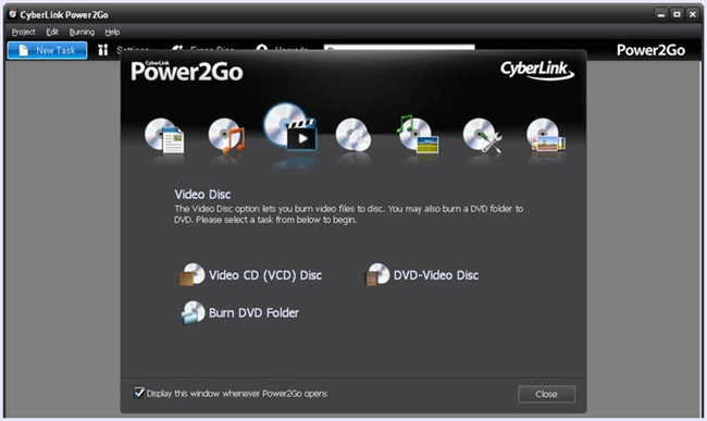 power2go dvd burner