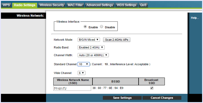 switch wifi channel