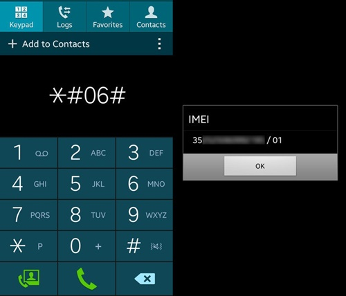 code for imei number mobile