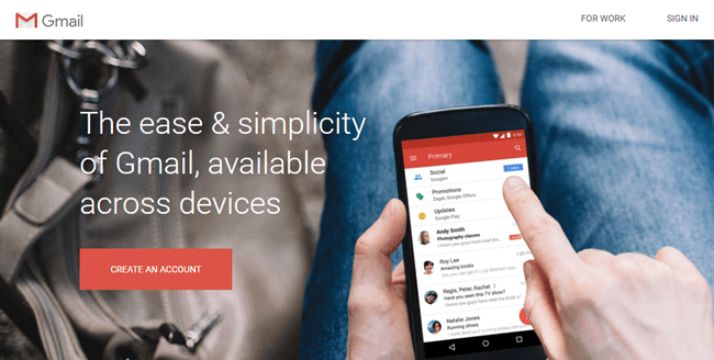 gmail about