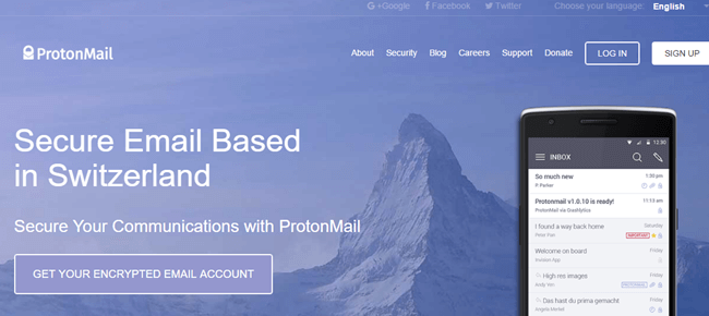 proton encrypted mail