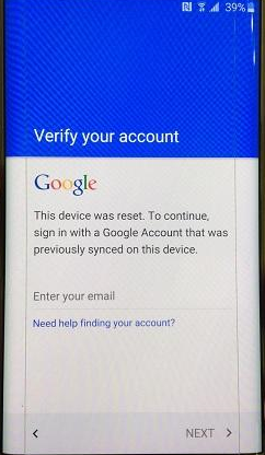 reset android phone locked with google account