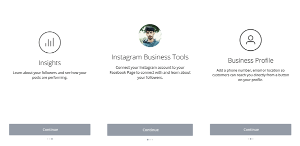 business page instagram