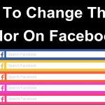 How to change facebook theme color