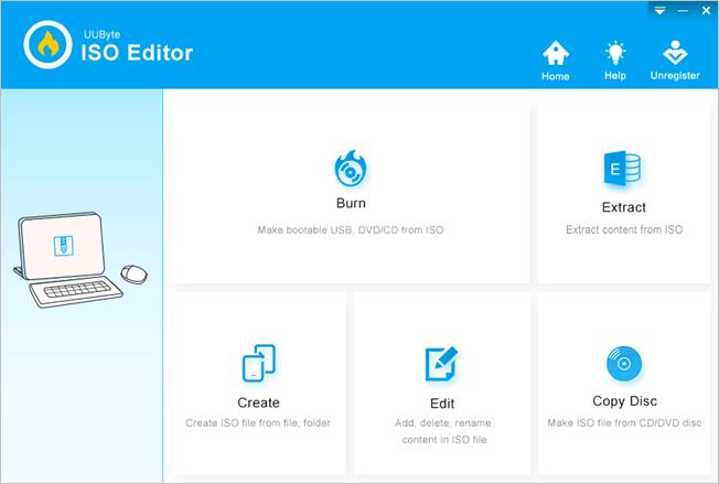 UUByte ISO Editor Home
