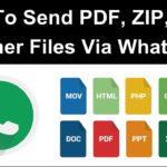 How To Send Apk Zip Doc Pdf Exe Files On Whatsapp