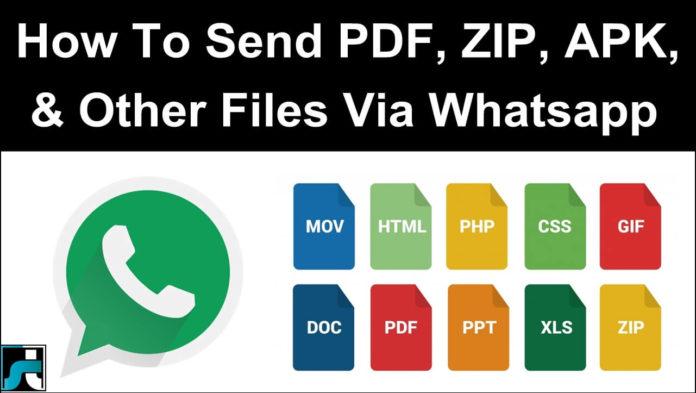 How To Send Apk Zip Doc Pdf Exe Files On Whatsapp