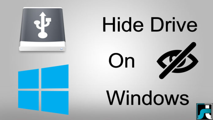 How to hide drives on windows 7 8 10 pc