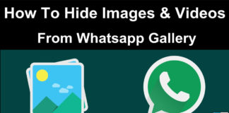 How to hide whatsapp images and videos from gallery