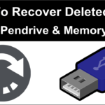 How to recover deleted files from pendrive and memory card