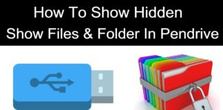 How to show hidden files in pendrive windows