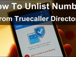 How to unlist number from truecaller directory
