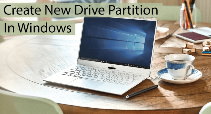 Create New Drive Partition In Windows Thumbnail