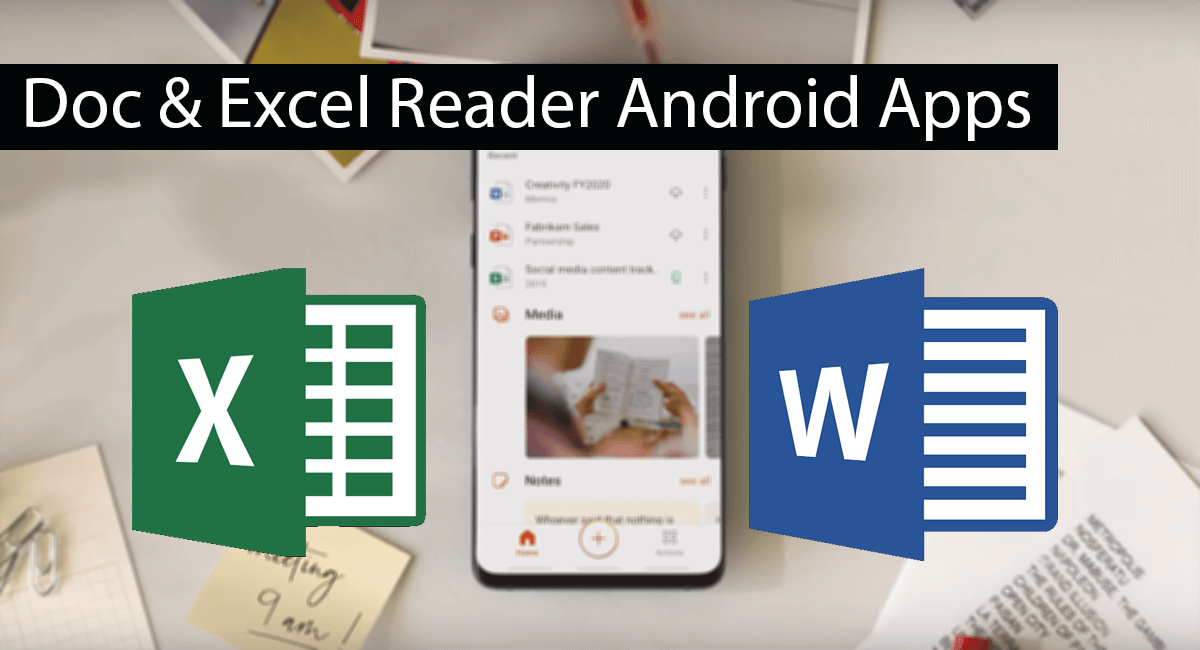 Top 10 Best Android Apps To Read Doc and Excel File Thumbnail
