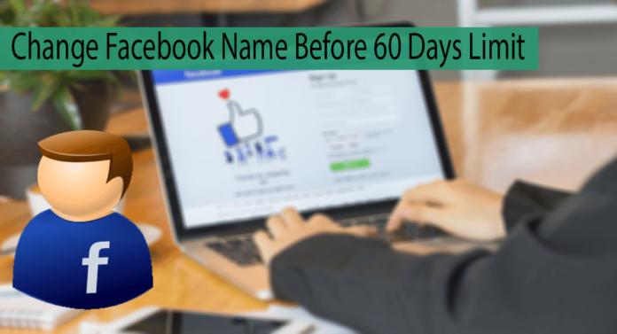 Change Facebook Name Before 60 Days Thumbnail