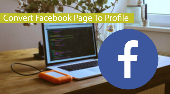How To Change/Convert Facebook Profile To Page Thumbnail