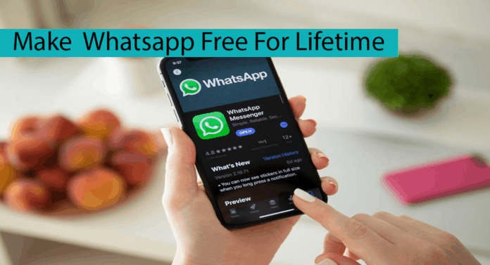 How To Make Whatsapp Free For Lifetime Thumbnail
