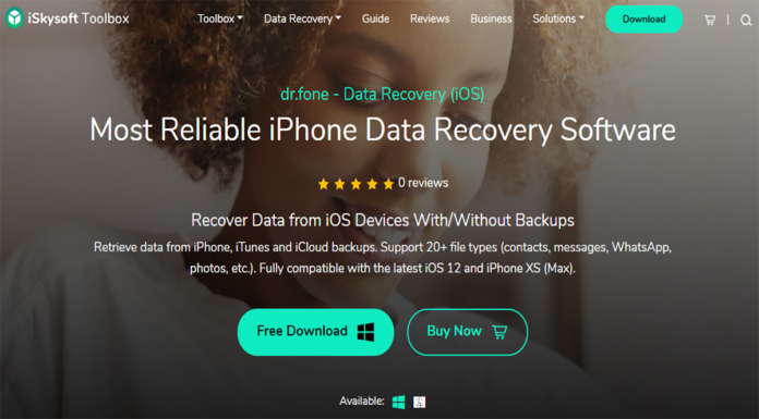 How To Recover Deleted Photos From iPhone With iSkysoft Toolbox - iOS Data Recovery Thumbnail
