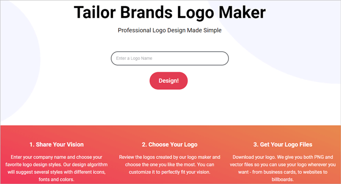 Tailor Brands Logo Maker Thumbnail