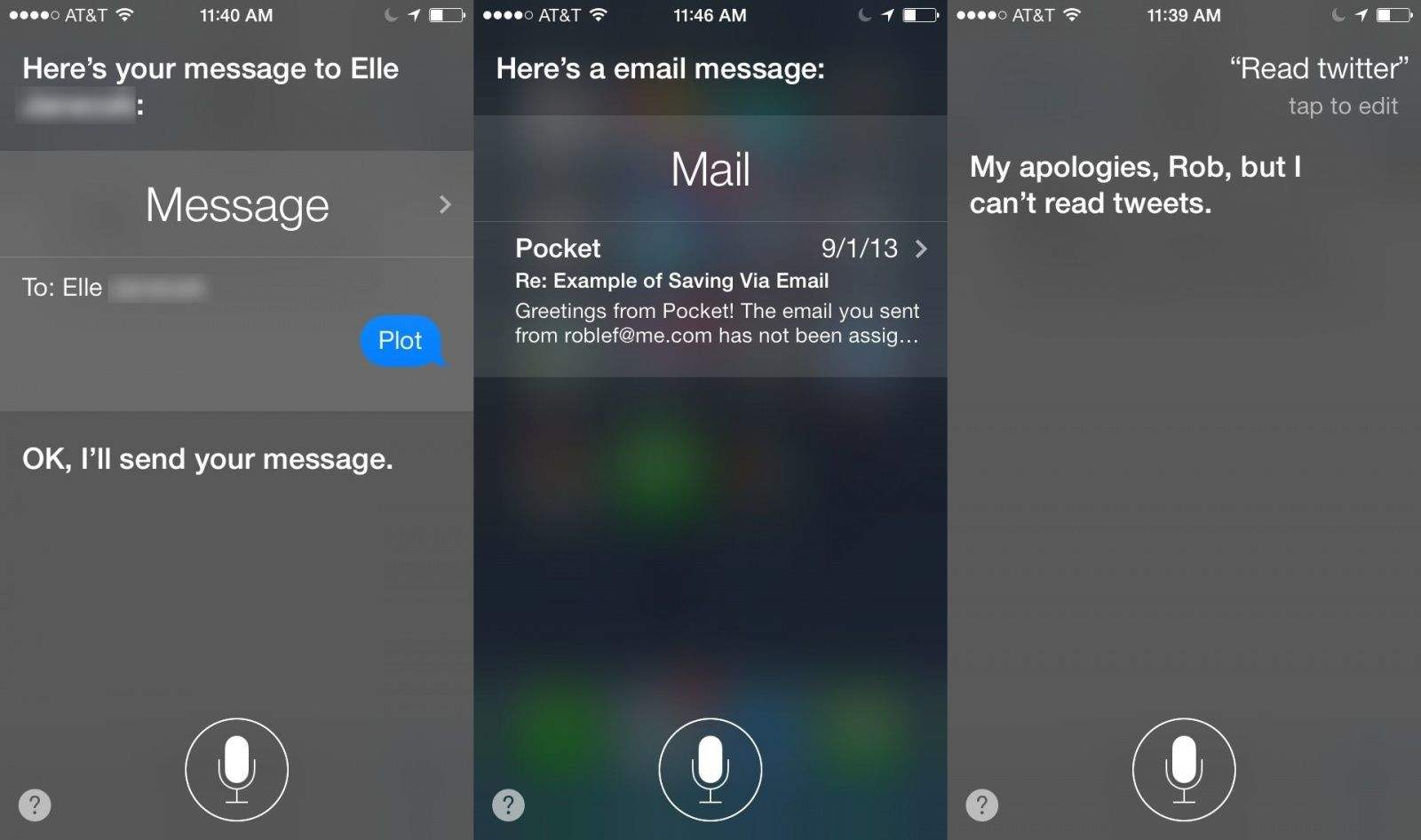 Siri Email Messages