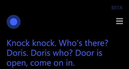 cortana knock knock