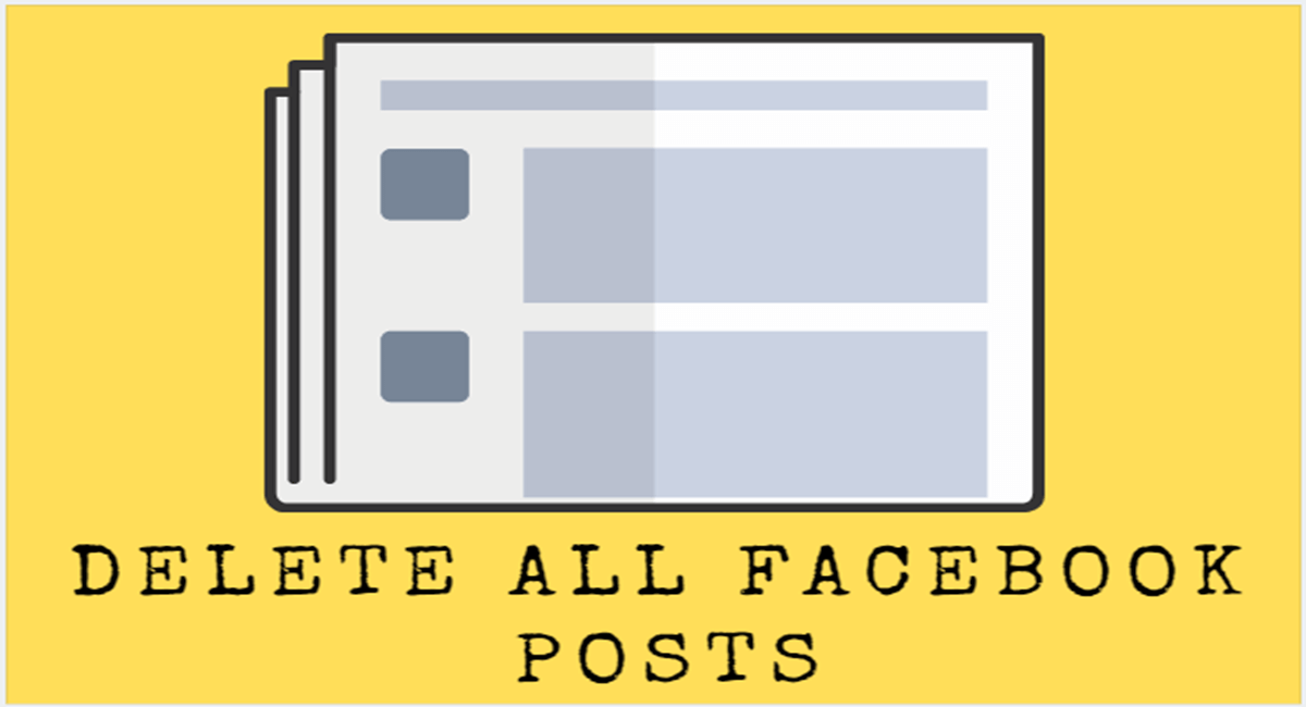 Delete All Facebook Posts Thumbnail