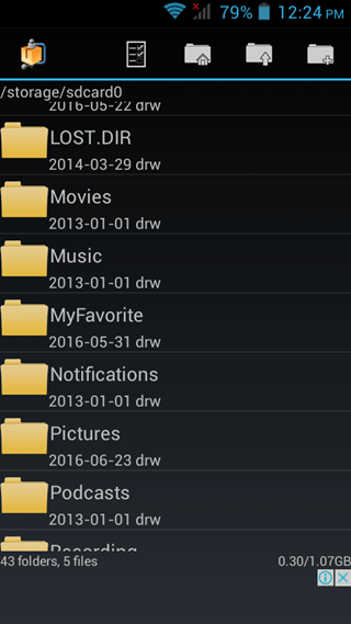 file manager androzip
