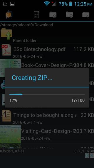 progress bar andro zip