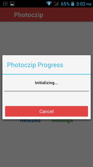 progress bare photoczip