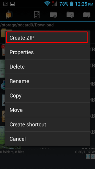 select create zip