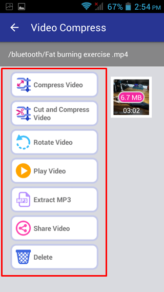 select option video compress