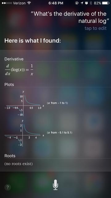 siri commands math
