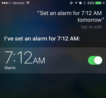 siri set alarm