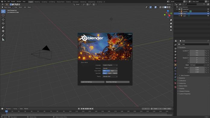 Blender Interface