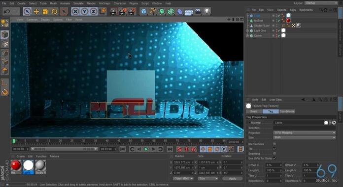 Cinema 4D Studio Interface
